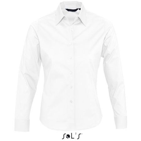 Ladies` Long Sleeved Stretch Shirt Eden in White von SOL´S (Artnum: L634