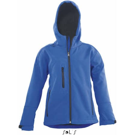 Kids` Hooded Softshell Jacke Replay von SOL´S (Artnum: L848K