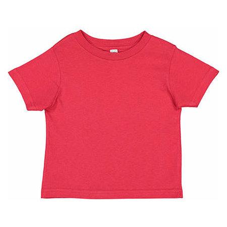 Toddler Fine Jersey T-Shirt in Red von Rabbit Skins (Artnum: LA3321