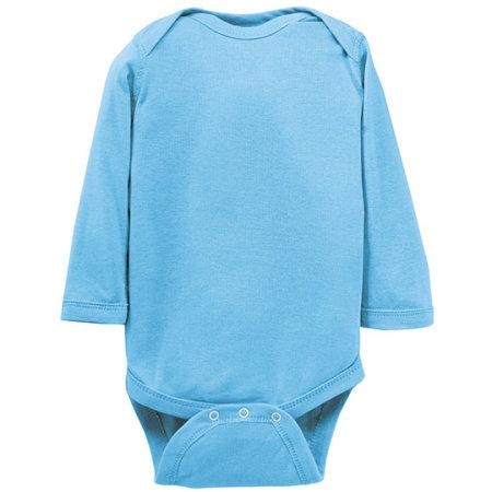 Infant Fine Jersey Long Sleeve Bodysuit in Light Blue von Rabbit Skins (Artnum: LA4411