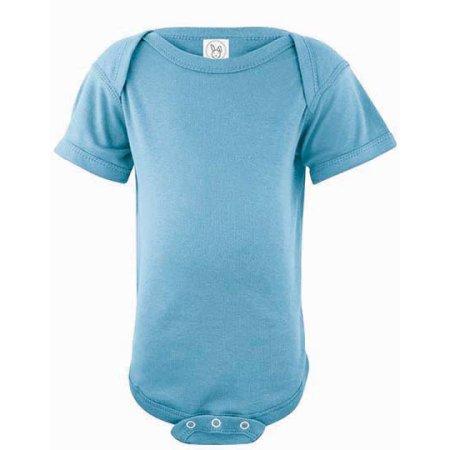 Infant Fine Jersey Short Sleeve Bodysuit in Light Blue von Rabbit Skins (Artnum: LA4424