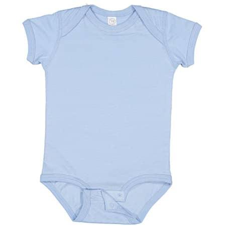 Infant Fine Jersey Short Sleeve Bodysuit in Light Blue von Rabbit Skins (Artnum: LA4424N