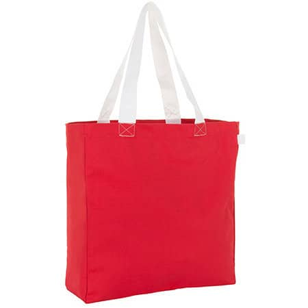 Lenox Shopping Bag in Red|White von SOL´S Bags (Artnum: LB01672