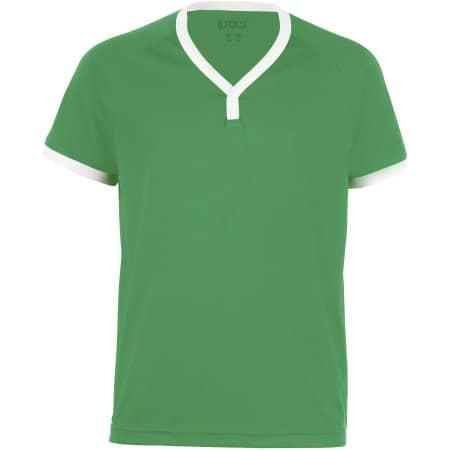 Kids` Short-Sleeved Shirt Atletico in Bright Green|White von SOL´S Teamsport (Artnum: LT01176