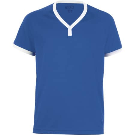 Kids` Short-Sleeved Shirt Atletico in Royal Blue|White von SOL´S Teamsport (Artnum: LT01176