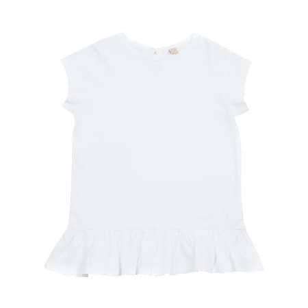 Girls Frill T Shirt von Larkwood (Artnum: LW026