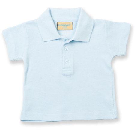 Kids` Polo Shirt in Pale Blue von Larkwood (Artnum: LW040