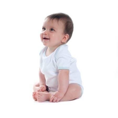 Contrast Baby Bodysuit von Larkwood (Artnum: LW051