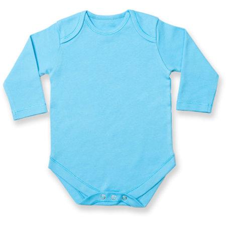 Long Sleeved Baby Bodysuit in Surf Blue von Larkwood (Artnum: LW052