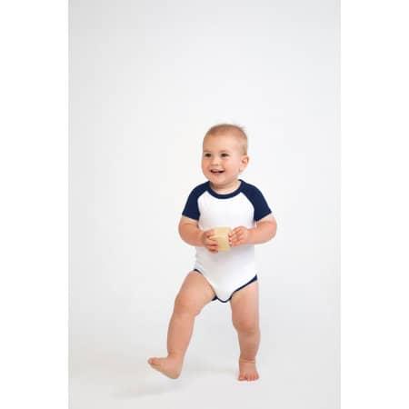 Essential Short Sleeved Baseball Bodysuit von Larkwood (Artnum: LW502