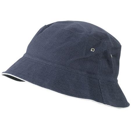 Fisherman Piping Hat in Navy|White von myrtle beach (Artnum: MB012