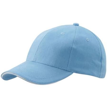 6-Panel Sandwich Cap in Light Blue|White von myrtle beach (Artnum: MB024