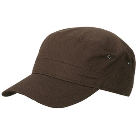 Military Cap in Dark Brown von myrtle beach (Artnum: MB095