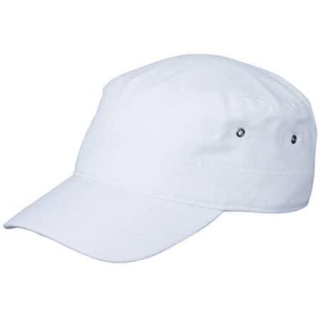 Military Cap in White von myrtle beach (Artnum: MB095