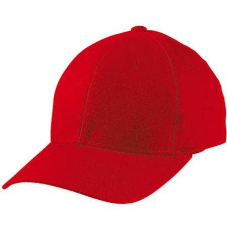 6 Panel Original Flexfit® Cap in Red von myrtle beach (Artnum: MB6181