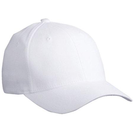 6 Panel Original Flexfit® Cap in White von myrtle beach (Artnum: MB6181