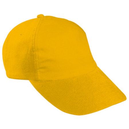 5-Panel Kids` Cap in Gold Yellow von myrtle beach (Artnum: MB7010