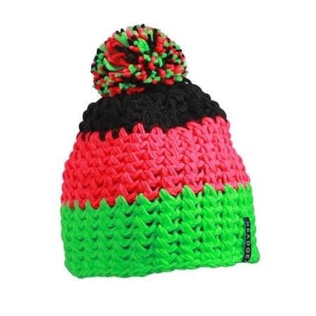 Crocheted Cap with Pompon von myrtle beach (Artnum: MB7940