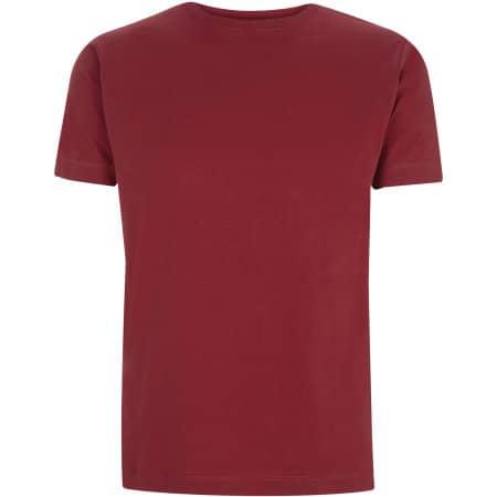 Unisex Classic Jersey T-Shirt in Burgundy von Continental Clothing (Artnum: N03