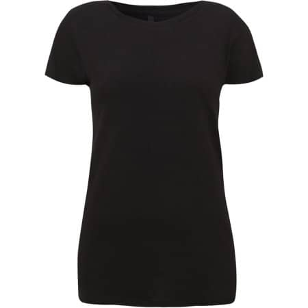 Womens Rounded Neck T-Shirt in Black von Continental Clothing (Artnum: N09
