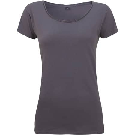 Women`s Raw Edge Jersey T-Shirt von Continental Clothing (Artnum: N14