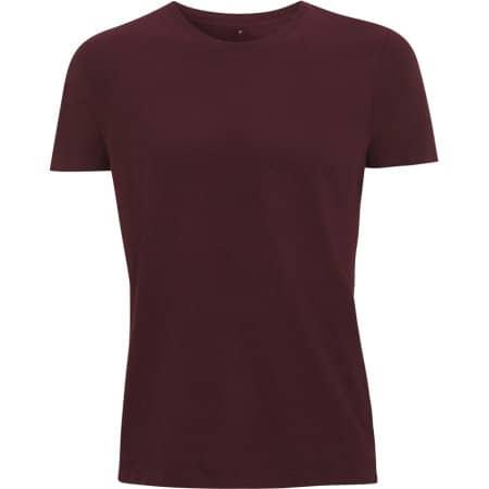 Unisex Slim Cut T-Shirt in Claret Red von Continental Clothing (Artnum: N18