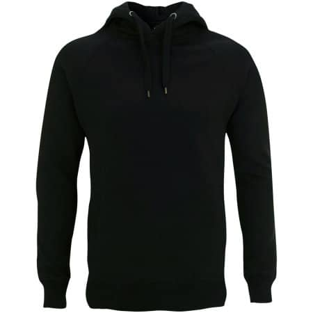 Men`s / Unisex Pullover Hoody With Side Pockets in Black von Continental Clothing (Artnum: N50P