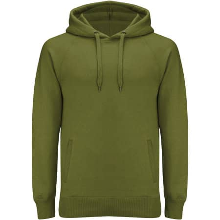 Men`s / Unisex Pullover Hoody With Side Pockets in Khaki Green von Continental Clothing (Artnum: N50P