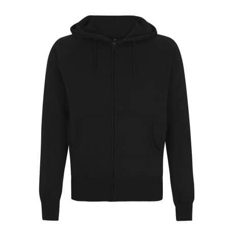 Unisex Zip Up Hood in Black von Continental Clothing (Artnum: N51Z