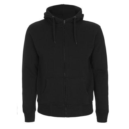 Men`s High Neck Zip Up Hoody in Black von Continental Clothing (Artnum: N52Z