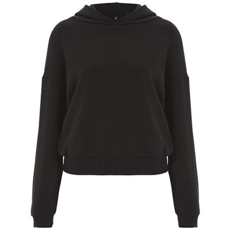 Womens Crop Hoody in Black von Continental Clothing (Artnum: N57P