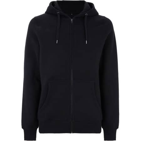 Men`s/Unisex Classic Zip Up Hoody in Black von Continental Clothing (Artnum: N59Z