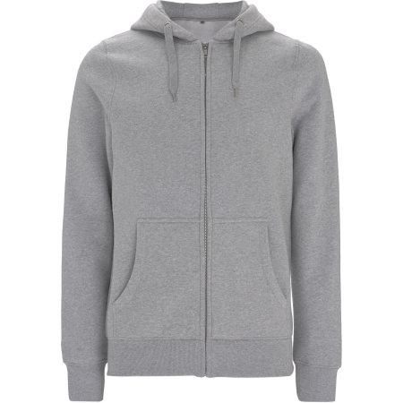 Men`s/Unisex Classic Zip Up Hoody in Melange Grey von Continental Clothing (Artnum: N59Z