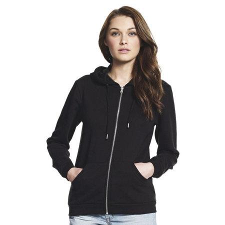 Women`s Lightweight Zip Up Hoodie von Continental Clothing (Artnum: N68Z