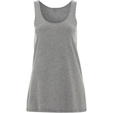 Women`s Tunic Vest in Melange Grey von Continental Clothing (Artnum: N93