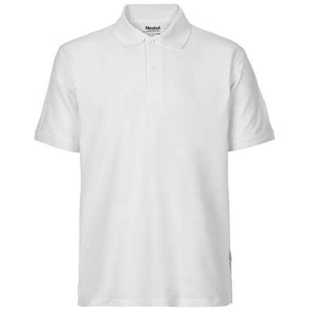 Men`s Classic Polo in White von Neutral (Artnum: NE20080