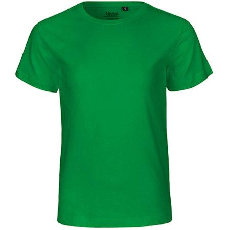 Kids` Short Sleeve T-Shirt in Green von Neutral (Artnum: NE30001