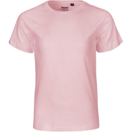 Kids` Short Sleeve T-Shirt in Light Pink von Neutral (Artnum: NE30001