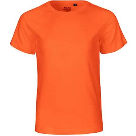 Kids` Short Sleeve T-Shirt in Orange von Neutral (Artnum: NE30001