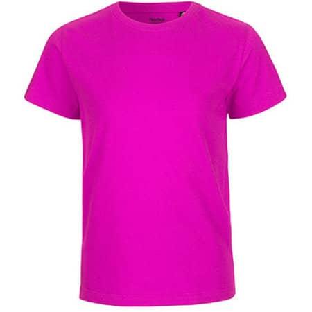 Kids` Short Sleeve T-Shirt in Pink von Neutral (Artnum: NE30001