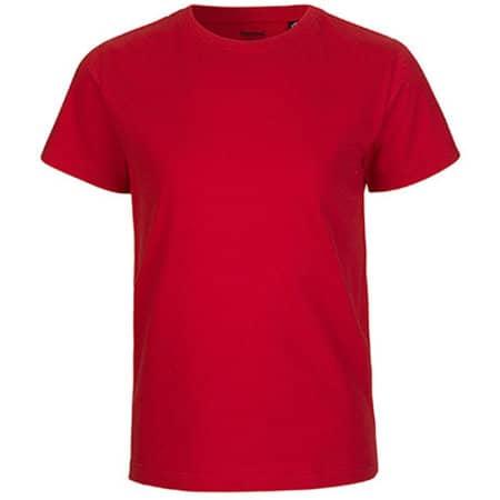 Kids` Short Sleeve T-Shirt in Red von Neutral (Artnum: NE30001