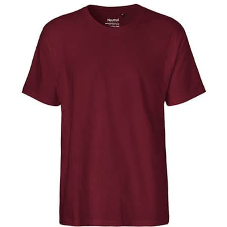 Men`s Classic T-Shirt in Bordeaux von Neutral (Artnum: NE60001