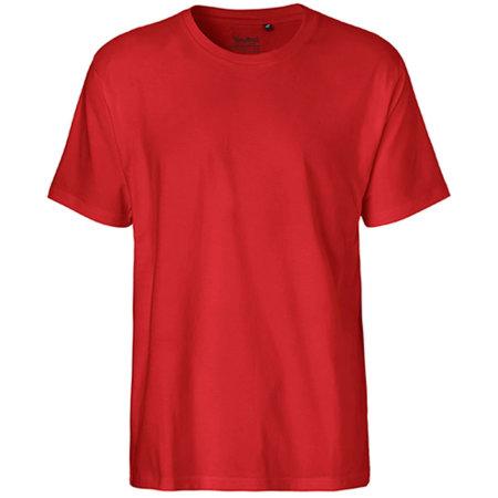 Men`s Classic T-Shirt in Red von Neutral (Artnum: NE60001