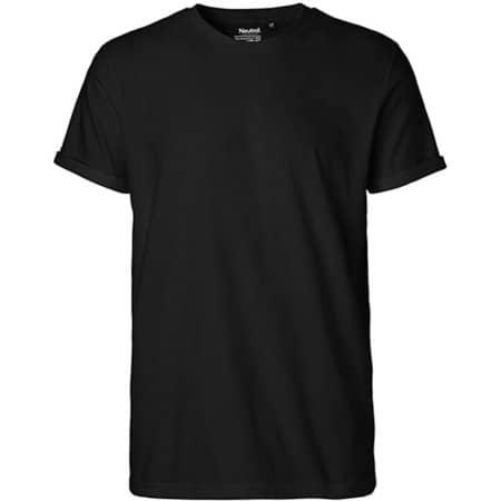 Men`s Roll Up Sleeve T-Shirt in Black von Neutral (Artnum: NE60012