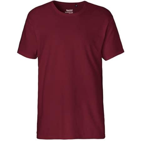 Men`s Interlock T-Shirt in Bordeaux von Neutral (Artnum: NE61030