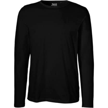 Men`s Long Sleeve T-Shirt in Black von Neutral (Artnum: NE61050