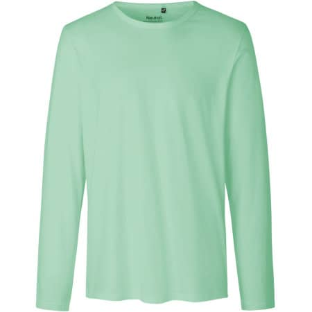 Men`s Long Sleeve T-Shirt in Dusty Mint von Neutral (Artnum: NE61050