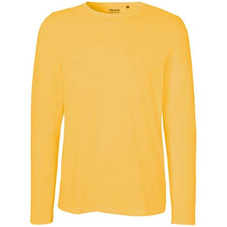 Men`s Long Sleeve T-Shirt in Yellow von Neutral (Artnum: NE61050