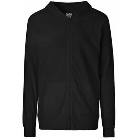Unisex Jersey Hoodie with Zip in Black von Neutral (Artnum: NE62301