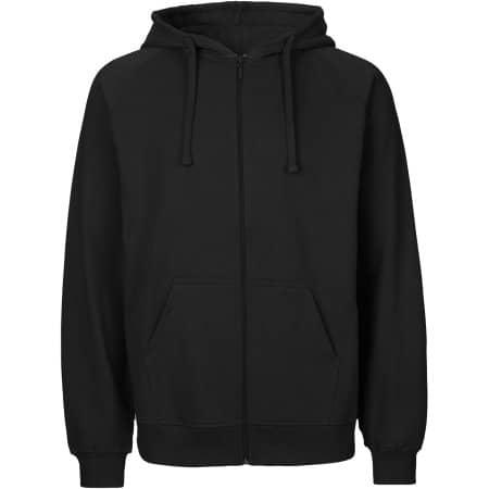 Men`s Zip Hoodie in Black von Neutral (Artnum: NE63301